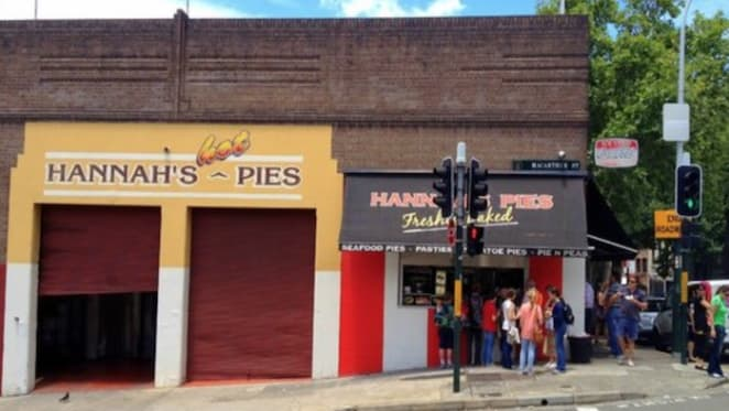 Hannah's Pies premises listed in Ultimo