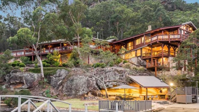 Rene Rivkin's former Hawkesbury River log cabin with $5 million expecations