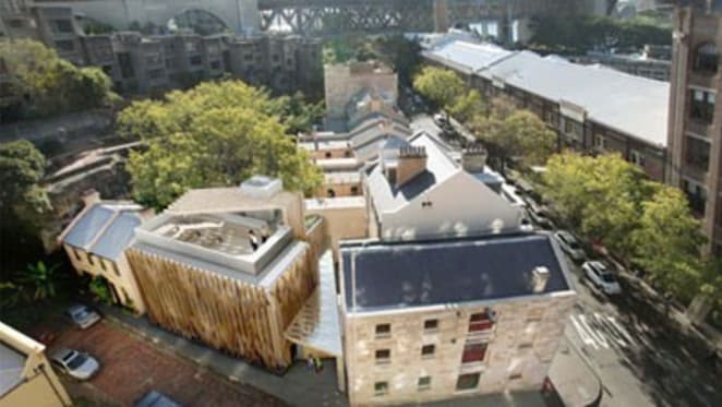 Baillie Lodges reveal ribbed modernist addition to proposed boutique hotel in Victorian-era The Rocks in Sydney