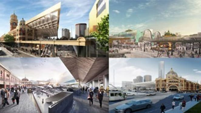 Melburnians asked to vote on six grand proposals for Flinders St Station