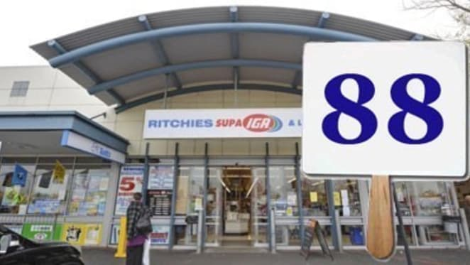 Mount Waverley IGA with lucky 88-dollar bids sells for $600,000 above the reserve