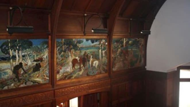 Six Walter Withers murals – with a 10-bedroom Victoria Western District homestead thrown in – listed for $6 million