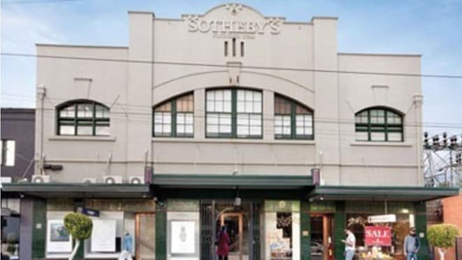 Sotheby's building on High Street, Armadale, for auction