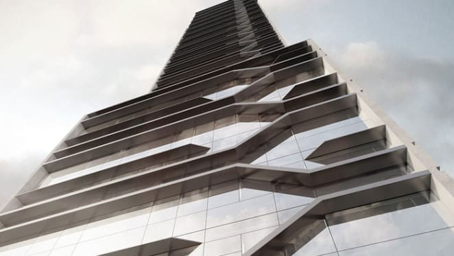 Jazzed up residential tower strikes key with Melburnians