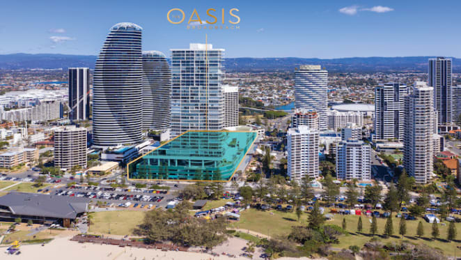 The Oasis, Broadbeach listed for sale