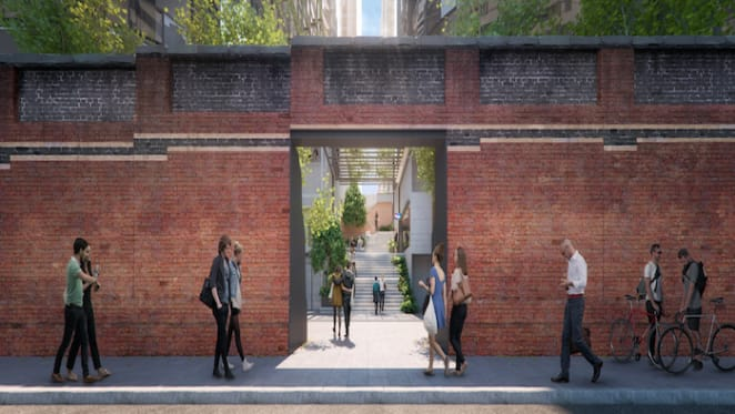 Lendlease restores first stage of historic wall on Flinders Street