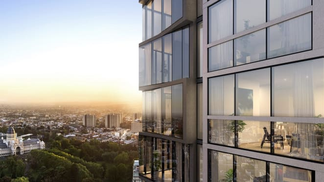 Rendering of The Peak exterior. Image by Plus Architecture.