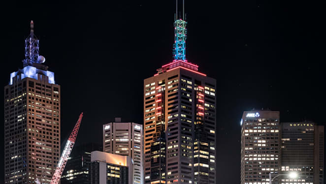 Lighting 101: A Collins Street landmark lights up the Melbourne skyline