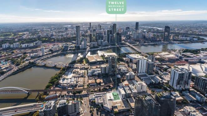 South Brisbane apartment development site listed for auction