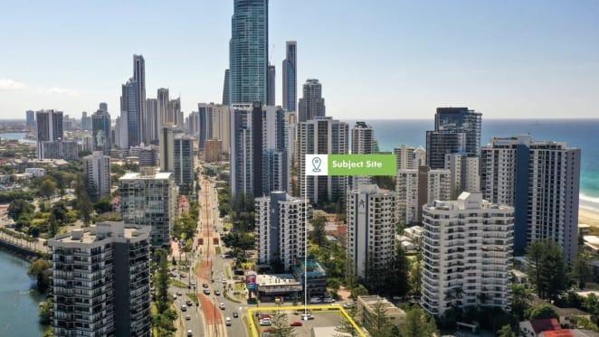 Surfers Paradise apartment development site listed
