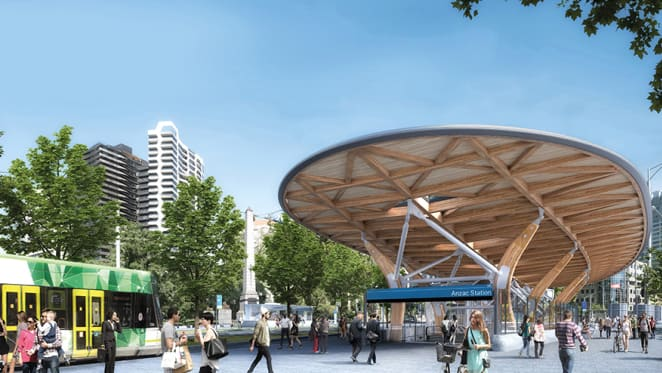 An overview of the projects in the vicinity of the new Anzac station