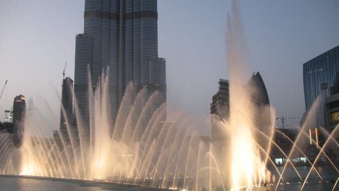A giant fountain in Docklands: could it be the ticket?