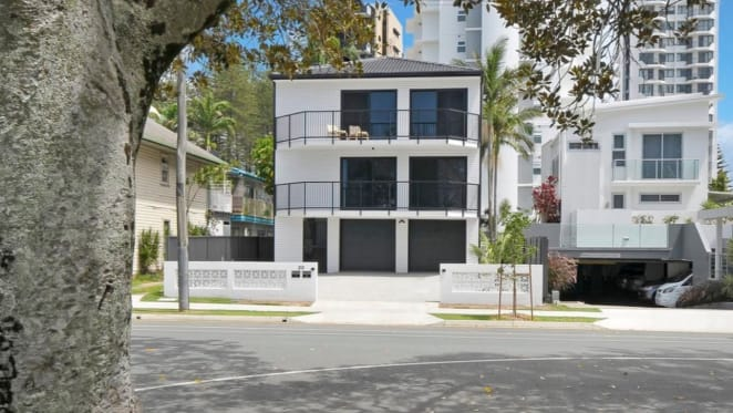 Surf legend Mick Fanning lists Coolangatta apartment block