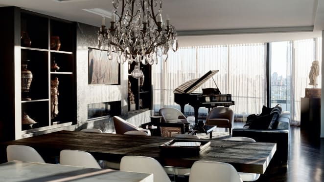 The living area of the penthouse. Photo credit Mark Roper