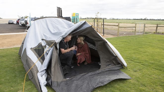 First home buyers camp overnight to secure affordable property in Geelong