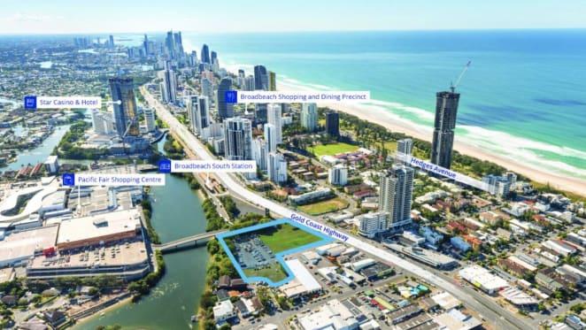 Gold Coast apartment site listed by Singaporean vendor