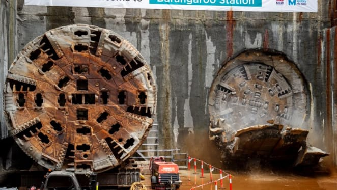 Tunnelling under Sydney CBD complete for the second phase of Sydney Metro