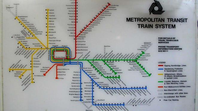Does Melbourne's rail map depict enough information?