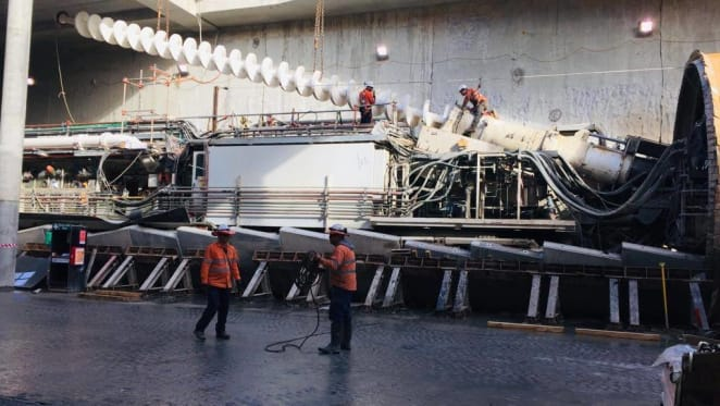 Perth's Forrestfield-Airport rail link tunnelling expected to finish in first half of 2020