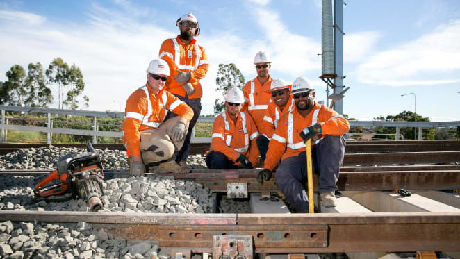 Track laying complete on Sydney Metro North West