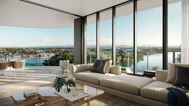 Art Deco inspired, The Catalina embodies the pinnacle of luxury apartment living on Chevron Island