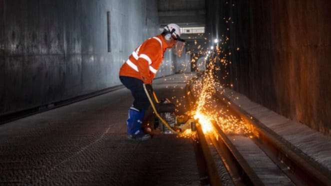 First tracks laid in Australia's biggest public transport infrastructure project