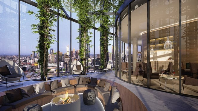 Artist impression of the sky garden and lounge.