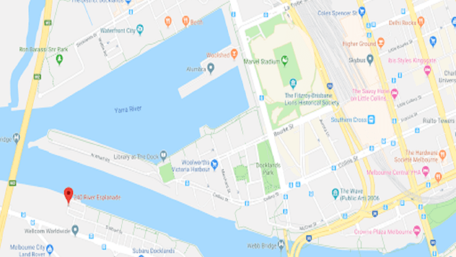 Image of Voyager's location at 240 River Esplanade by Google Maps.