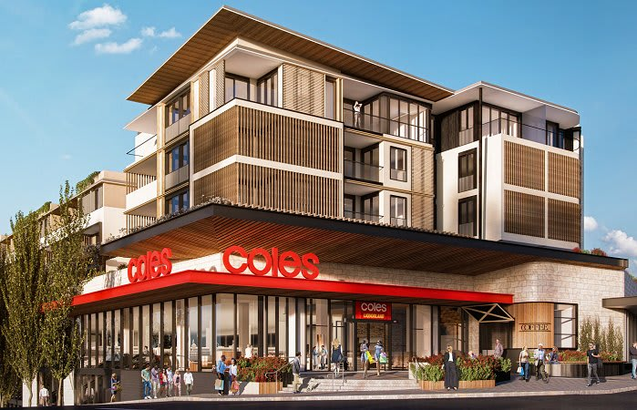 Coles Group pushes shop top apartment developments in Melbourne and Sydney