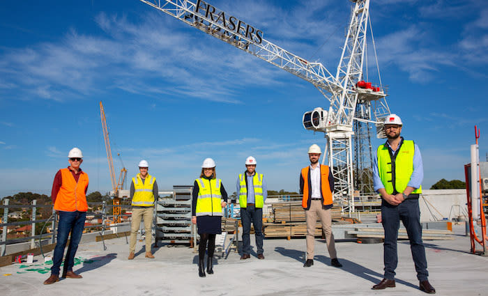 Burwood Brickworks tops out ahead of schedule