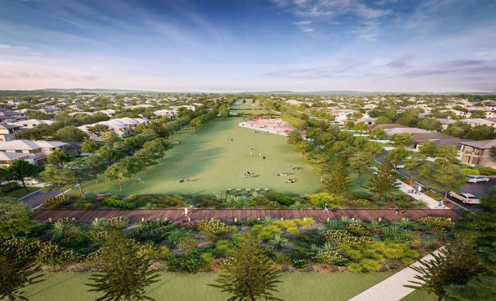 Construction underway on linear park at masterplanned Sunshine Coast community