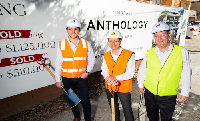 Anthology New Farm commences construction with $19 million in sales