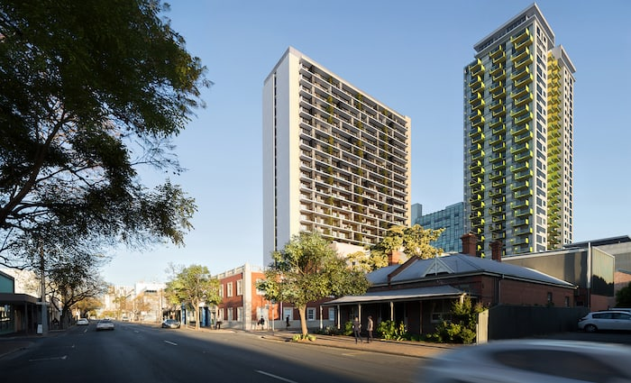 Residents move in to Kodo, Adelaide's tallest residential building as ground breaks next door at Penny Place