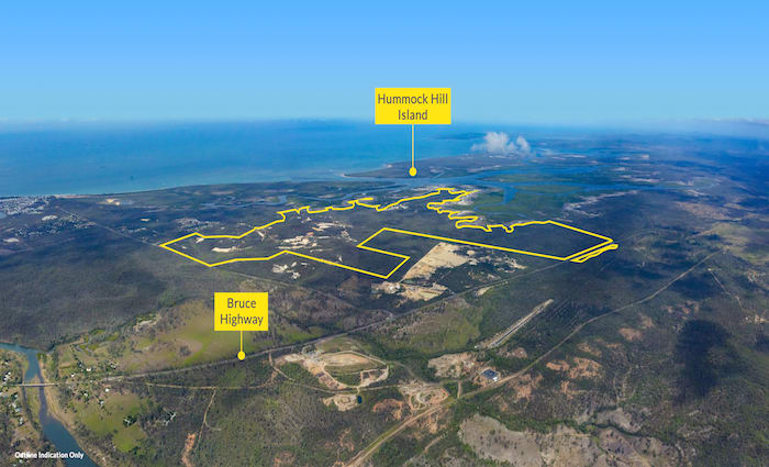 1500 hectare coastal Gladstone land holding with development potential listed