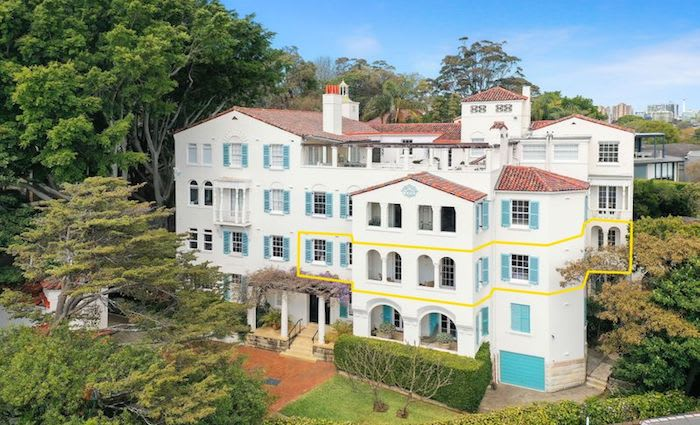 Apartment in Bellevue Hill 1920s The Silchester block sold for $4.5 million
