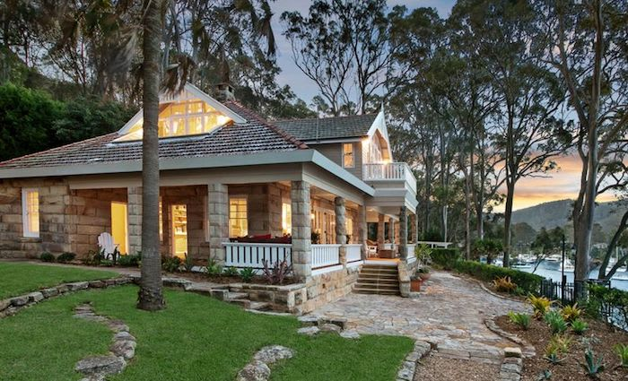 Maritana the 1920's Elvina Bay sandstone home on the waterfront has been listed