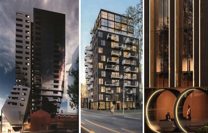 City of Melbourne field three high quality development applications
