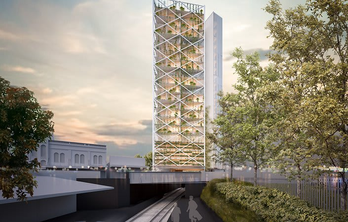 SMA Projects reveals Australia's first above rail line residential building