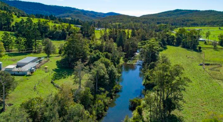 Former dairy farm in Numinbah Valley listed after 110 years