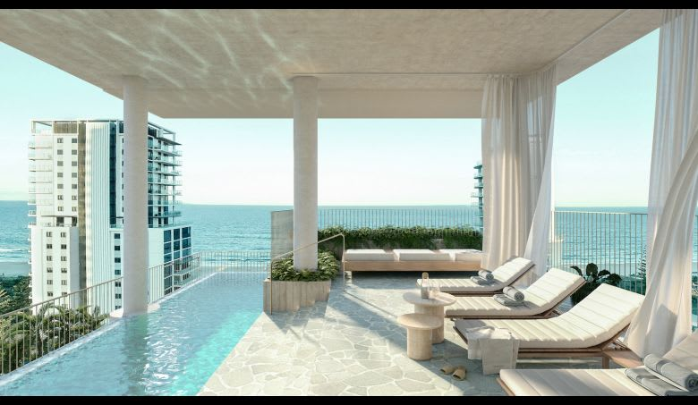 The communal pool deck: Image supplied