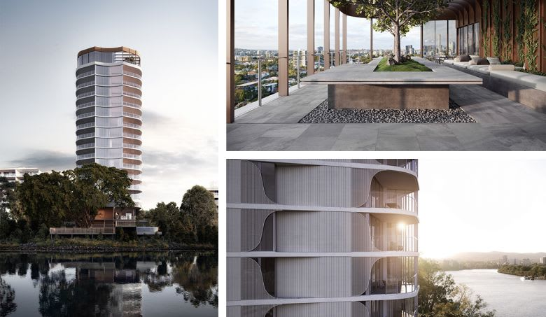 The 160 Macquarie riverfront tower. Image supplied