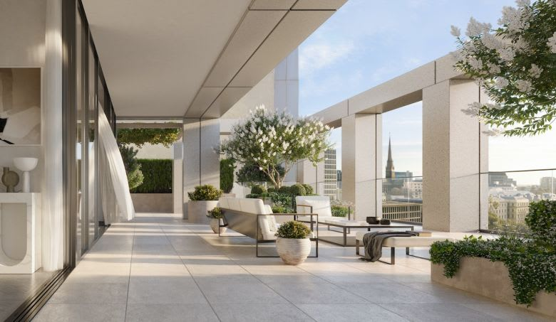 The whole floor Garden Residence. Image supplied