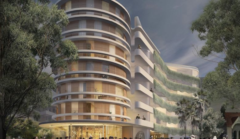 The renders by Luigi Rosselli Architects. Image supplied