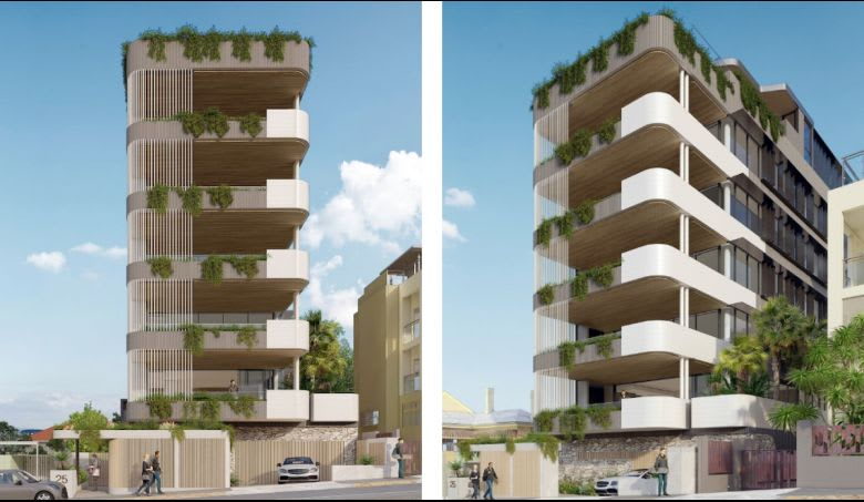 The plans lodged for 25 Harcourt Street, New Farm. Image: Brisbane City Council