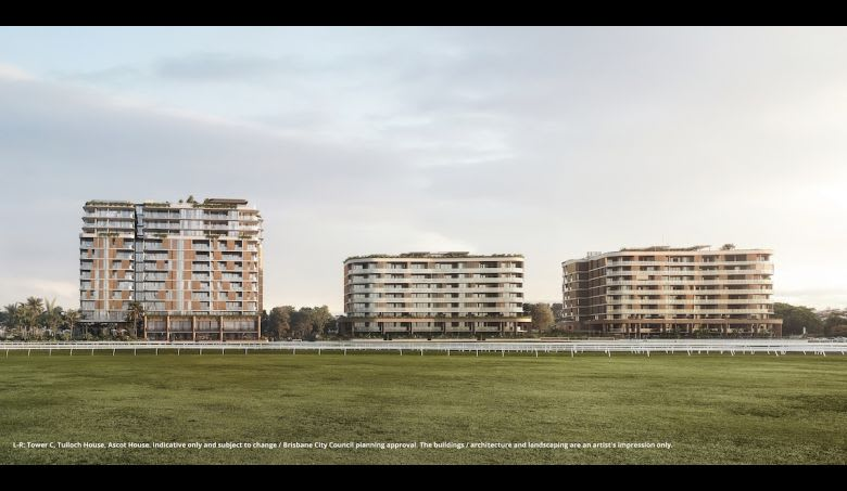 The new proposed building far left, beside Tulloch House and Ascot House. Image supplied