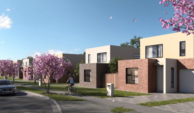 A row of townhouses in Sixth Ave. Image supplied
