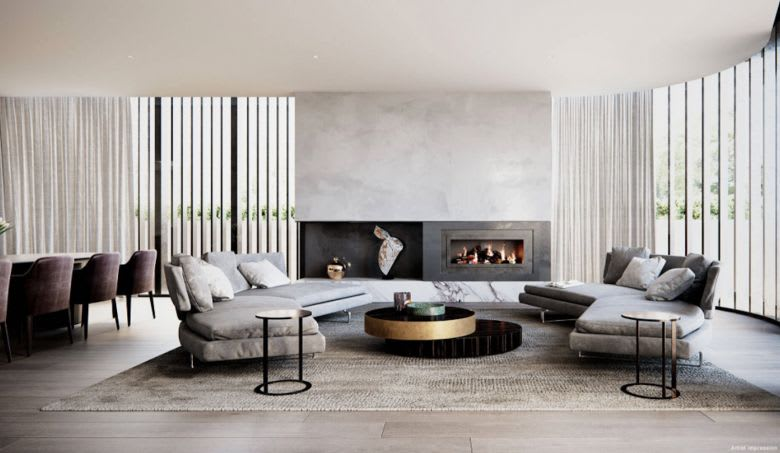 The penthouse living space. Image supplied