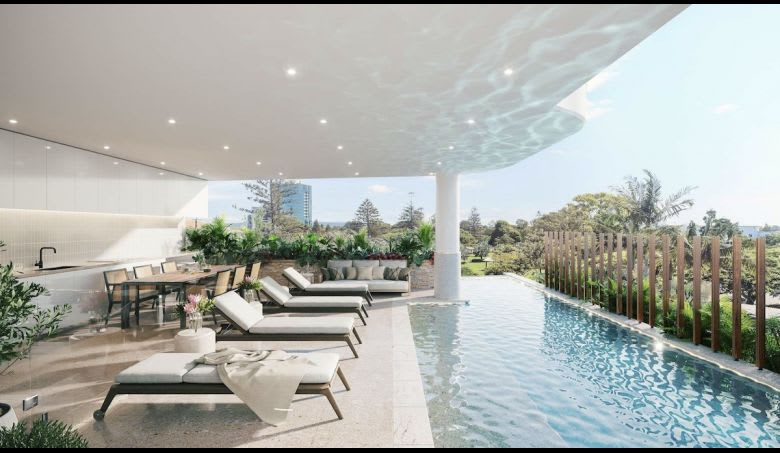 The proposed swimming pool. Image supplied