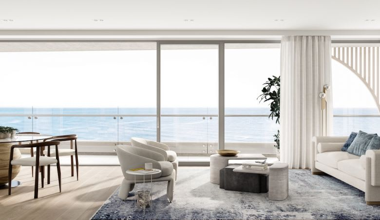 The view from one of the Sea apartments
