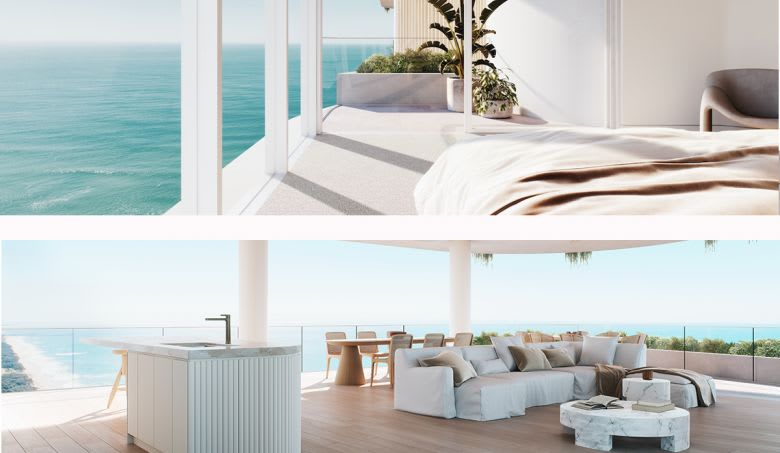 The luxury renders of La Mer at Main Beach. Image supplied